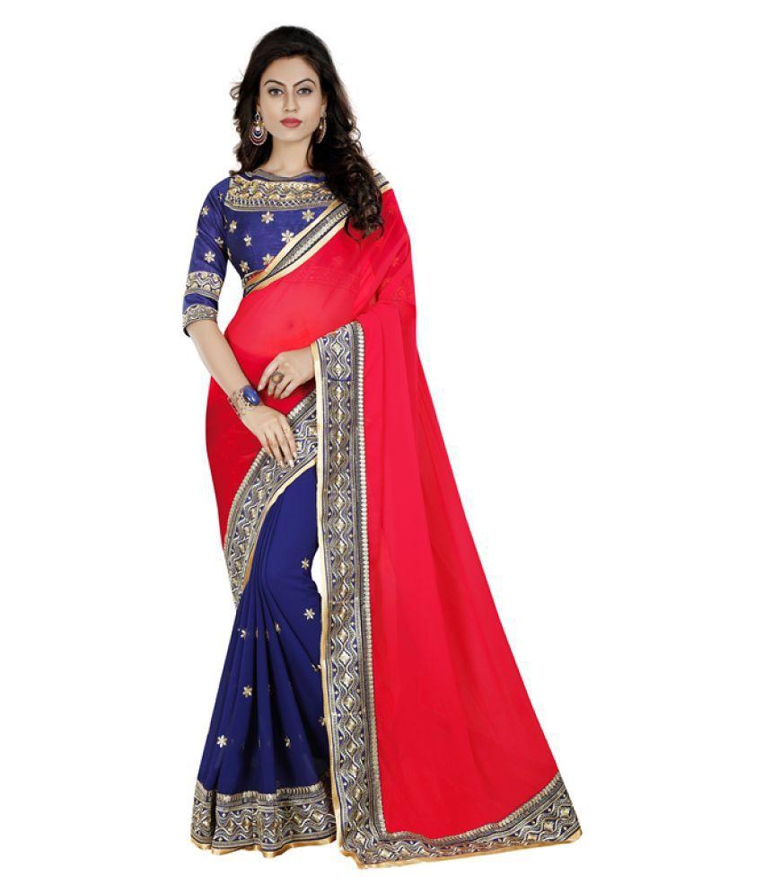 Shivanya Fashion Multicoloured Georgette Saree