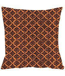 Thoidam Traders Yellow Digital Print Cushion Covers (Set Of 2)