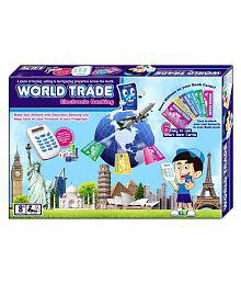 Wish Kart World Trade Property Trading Game with Electronic Banking and Swipe Machine