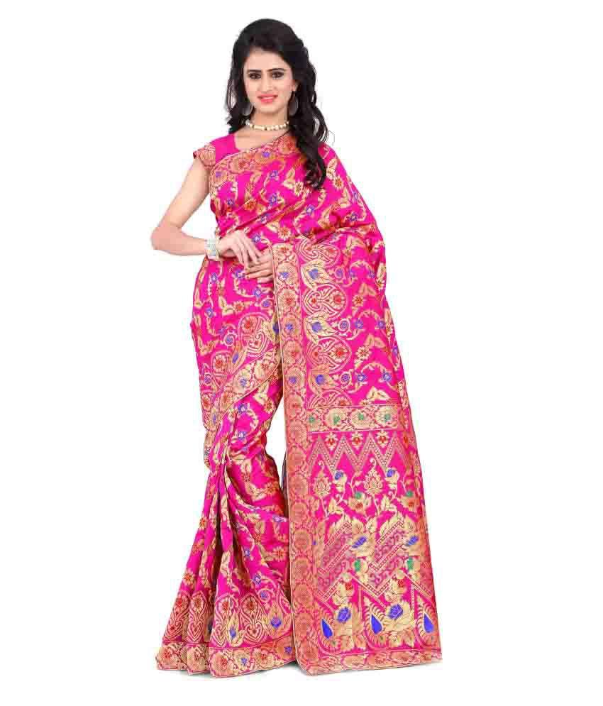 Hari Krishna Sarees Pink Banarasi Silk Saree