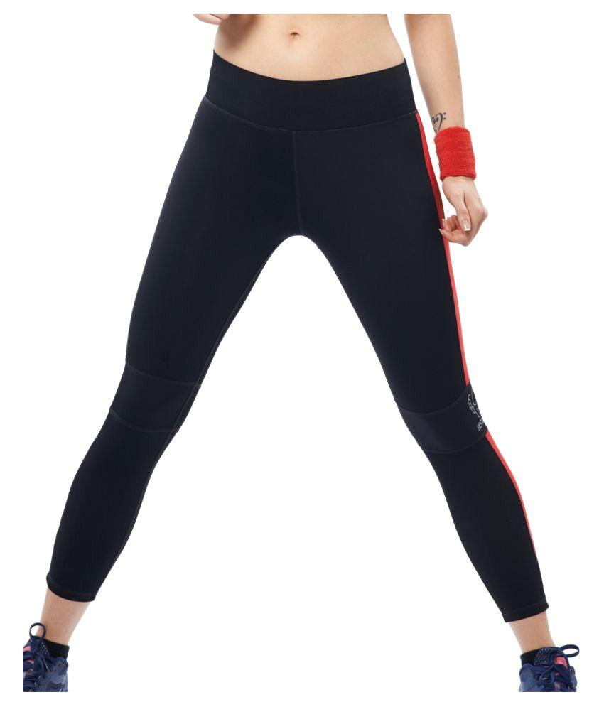 Restless Black Red Lycra Bottomwear RS C 12A
