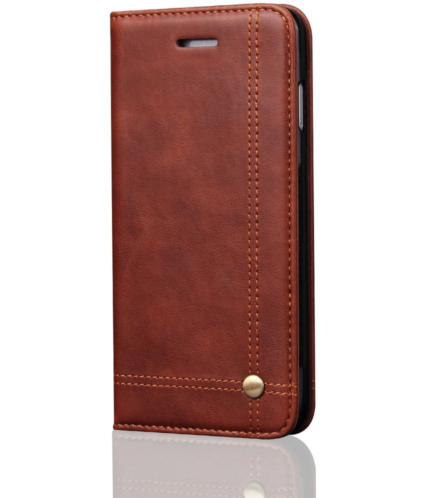 Apple iPhone 6 Plus Flip Cover by CUBIX   Brown