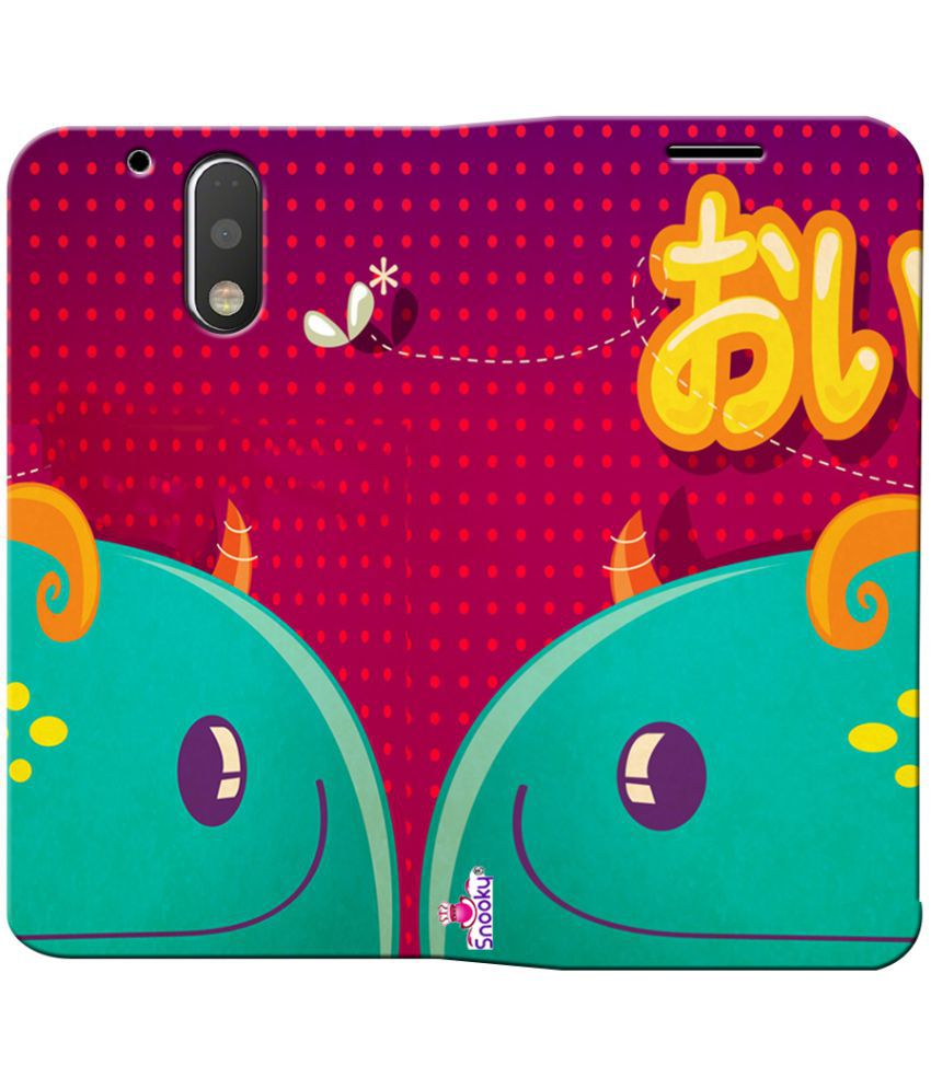 Moto G4 Plus Flip Cover by Snooky - Pink