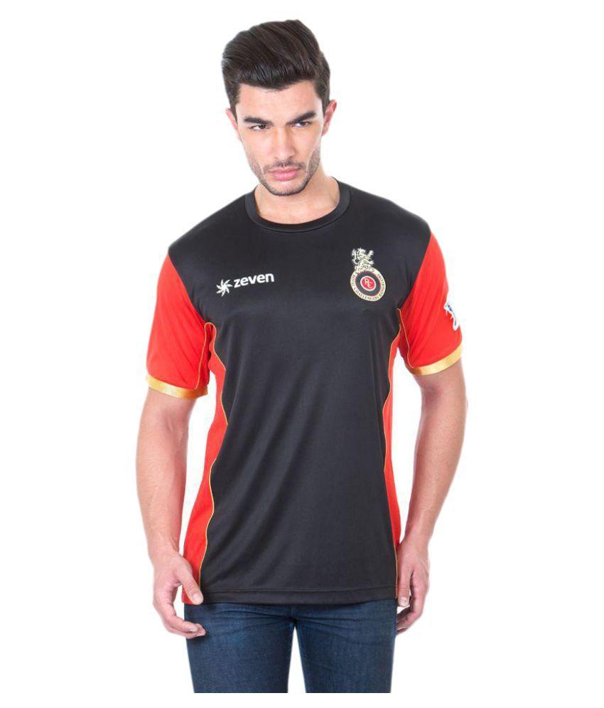 Zeven RCB SS Mens Cricket Round Neck T-Shirt