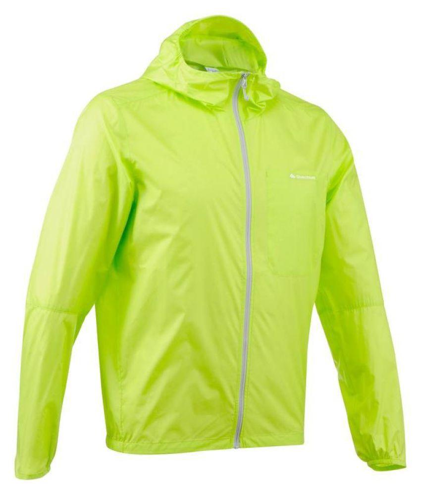 Quechua Green Polyster Waterproof Jacket