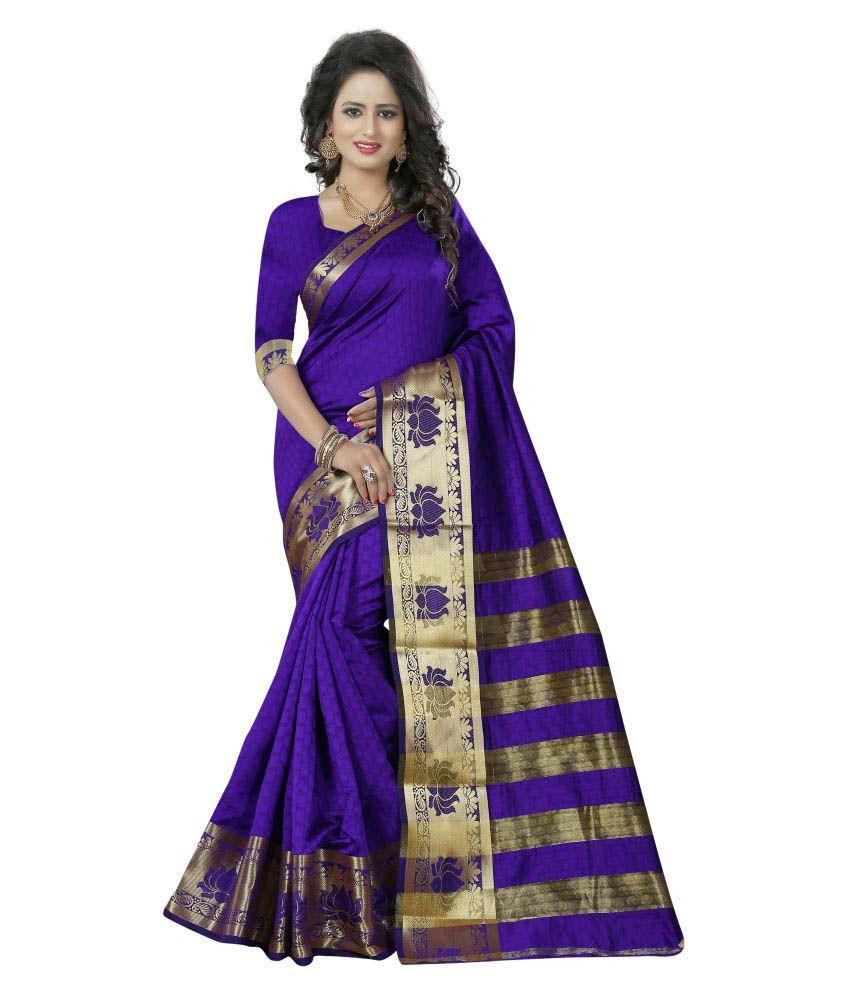Skyzone Group Purple Banarasi Silk Saree