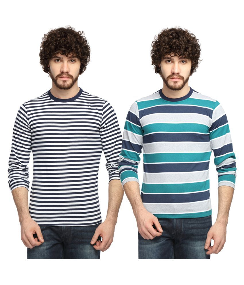 Goodtry Multi Round T-Shirt Pack of 2