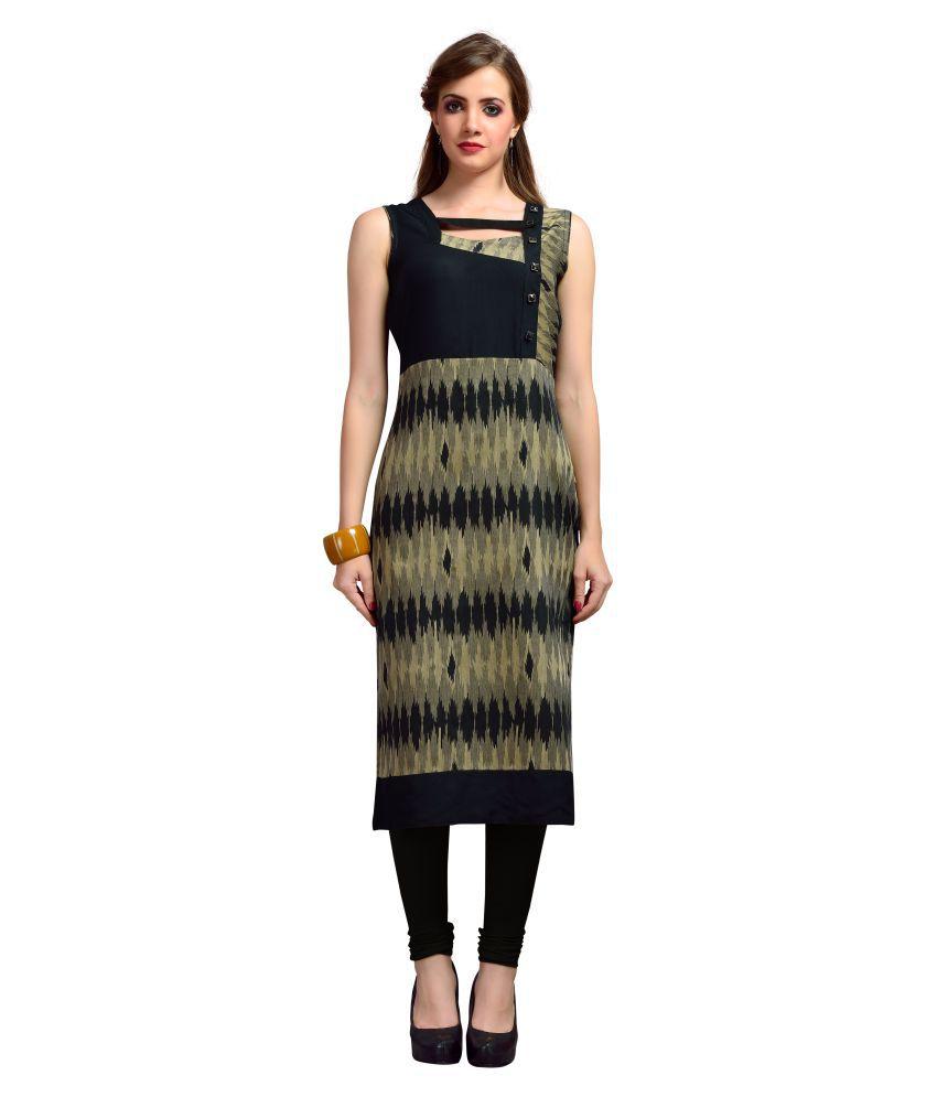 Madhuram Textiles Multicoloured Cotton Straight Kurti