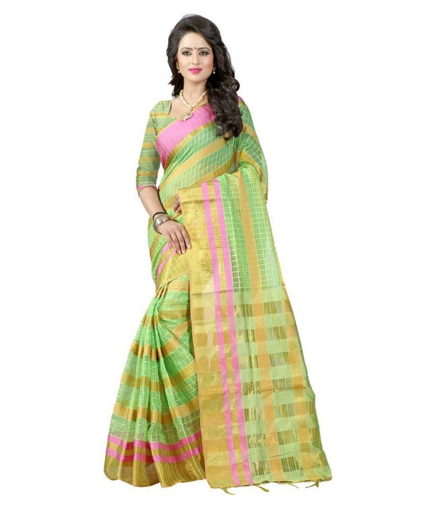 Bhuwal Nx Green Cotton Silk Saree