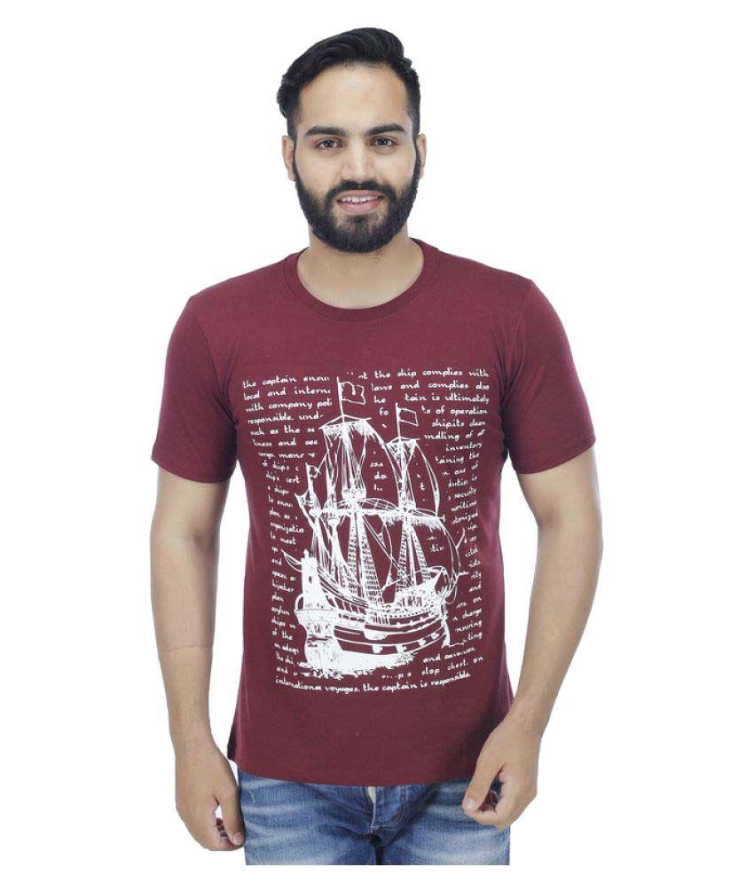 CMS Maroon Round T-Shirt