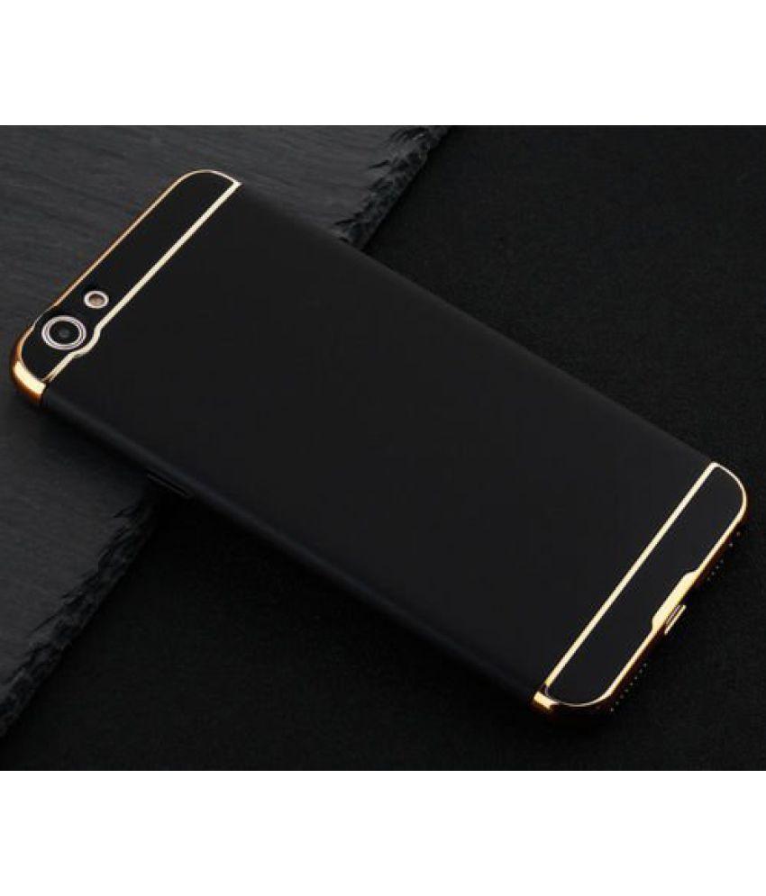 Oppo F1s Plain Cases SUNNY FASHION - Black