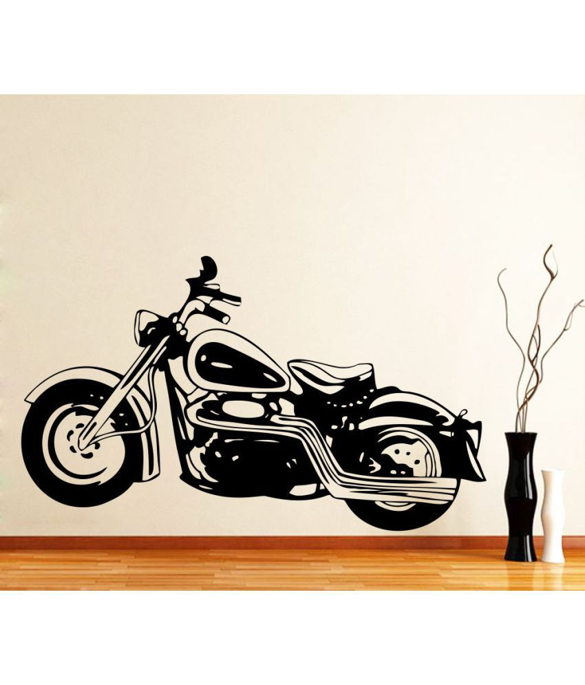 Bike stickers design online india - Impression Wall Bullet Bike Pvc Multicolour Wall Sticker Pack Of 1