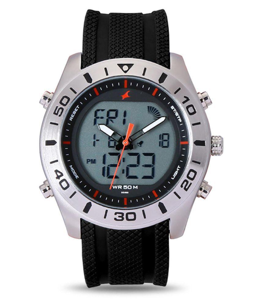 fastrack black analogdigital watch buy fastrack black