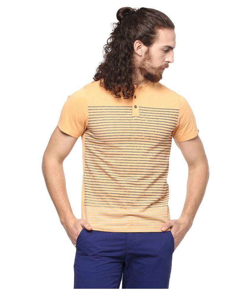 Leo Sansini Yellow Henley T-Shirt