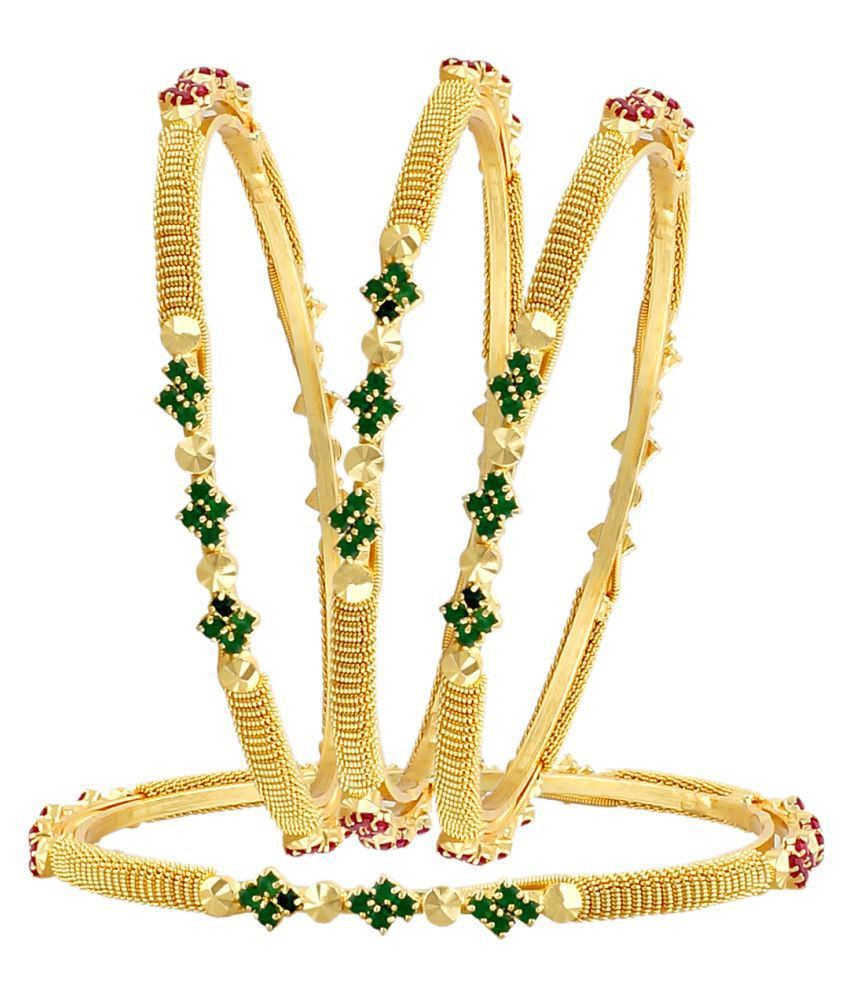 Mollick & Sons Brass Bangles Set of 4