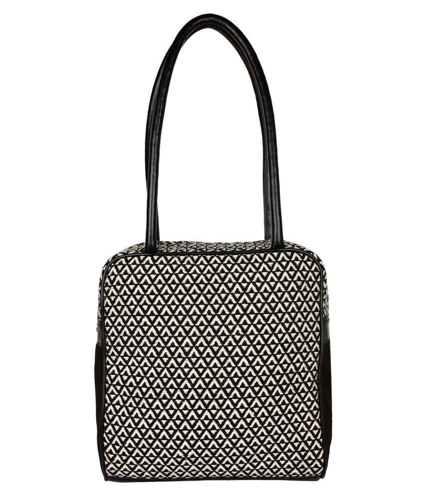 Anekaant Black Fabric Shoulder Bag