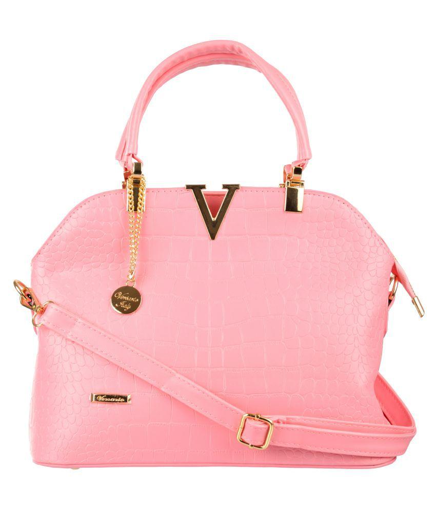 Versario Italy Pink Polyster Handheld