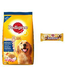 Pedigree Care Combo Of Adult Dog Food Chicken&Veg-3 Kg With Jumbone Chicken&Rice,200gm ( 2 Sticks)