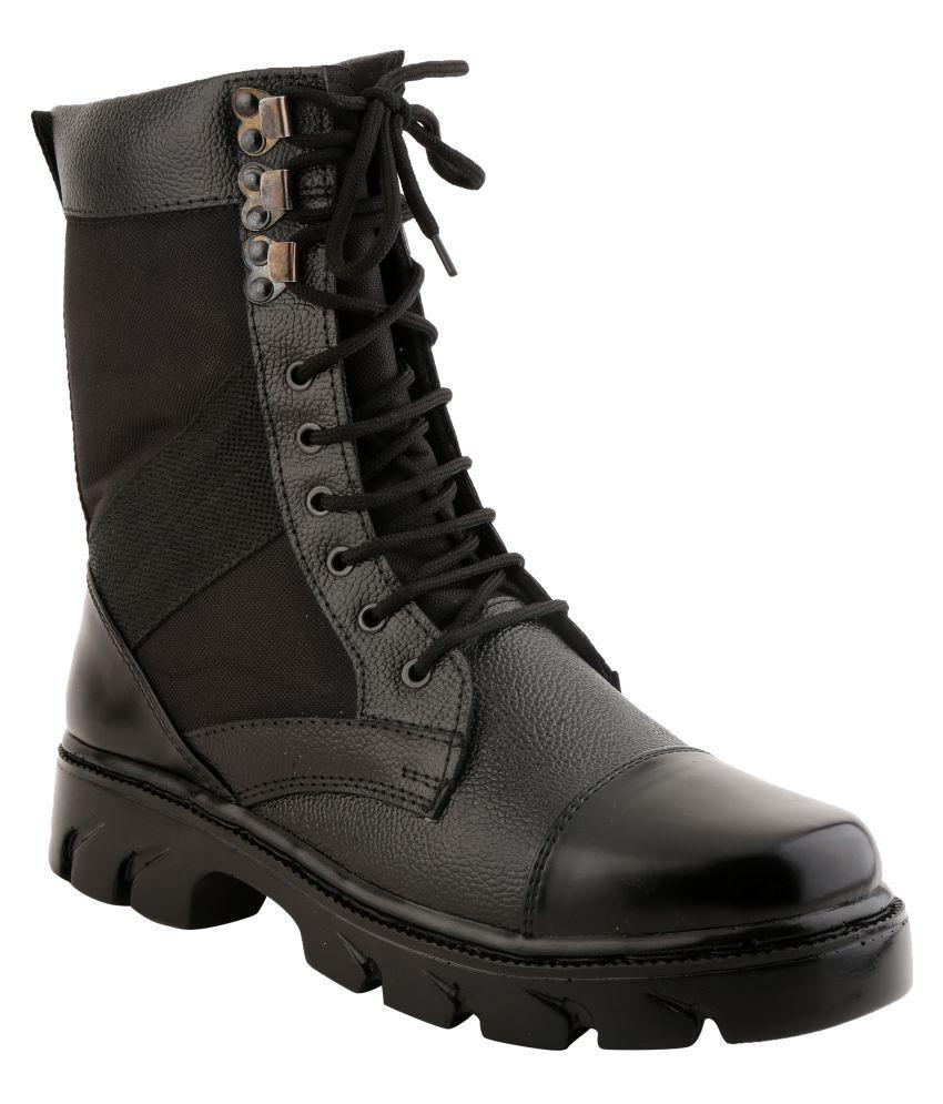 Nuan Black Hiking & Trekking Boot