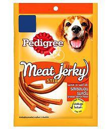 Pedigree Dog Treats - Meat Jerky Stix, Smoked Salmon, 60 Gm Pouch - Pack Of 12