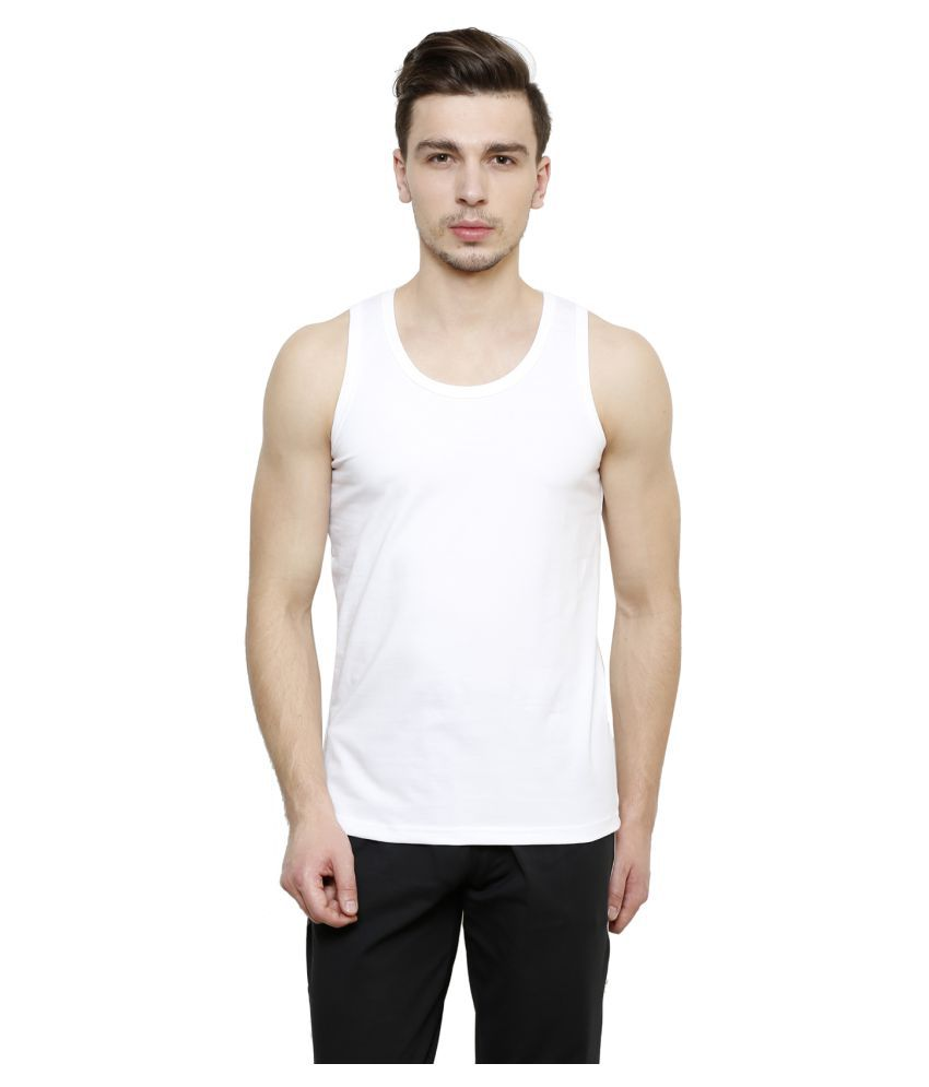 Casual Tees White Cotton Lycra T-Shirt