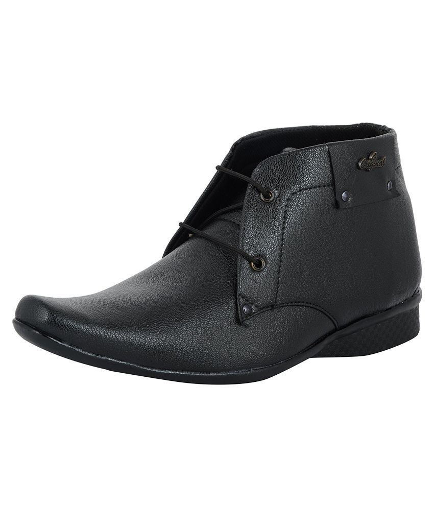 shoe sense black non leather formal shoes price in india