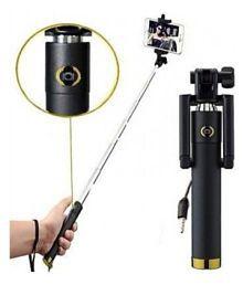 Pubali Aux Wire Selfie Stick - Black