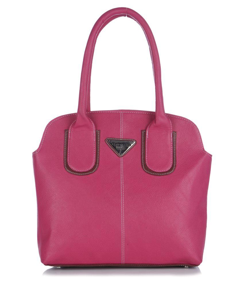 Fostelo Pink P.U. Shoulder Bag