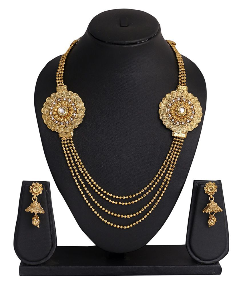 Glory Jewels Golden Alloy Necklace Set