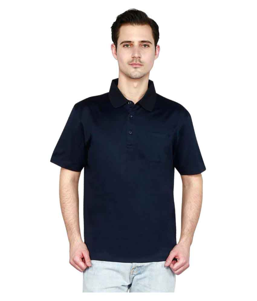 T10 Sports Navy Cotton Polo T-Shirt Single Pack