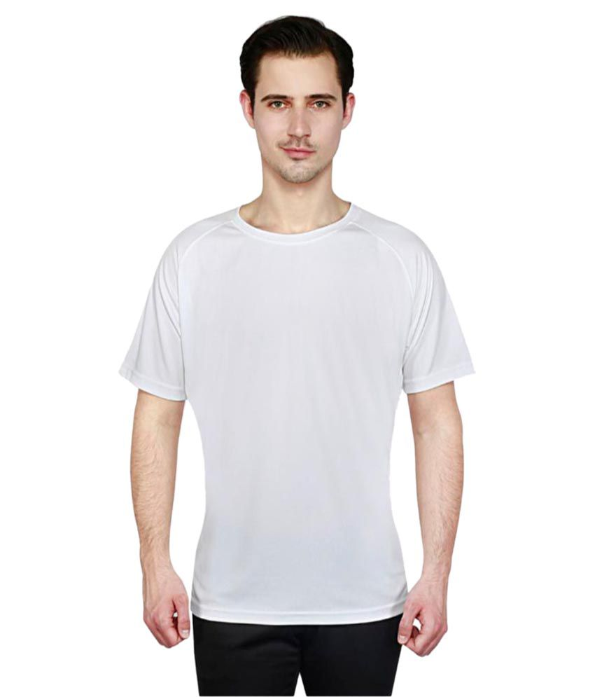 T10 Sports White Polyester T-Shirt Single Pack