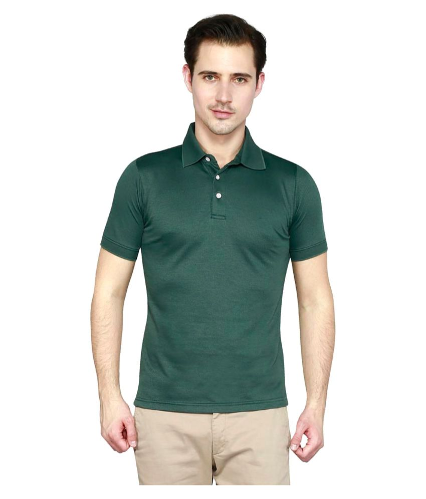 T10 Sports Green Polyester Polo T-Shirt Single Pack