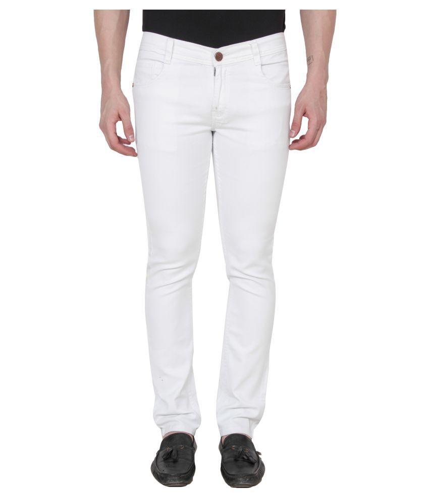 Xee White Slim Jeans