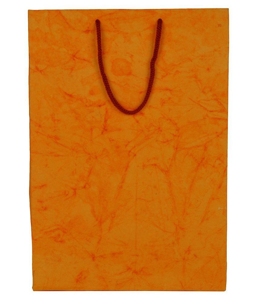 Shri Shri Enterprises Orange Shopping Bags - 50 Pcs