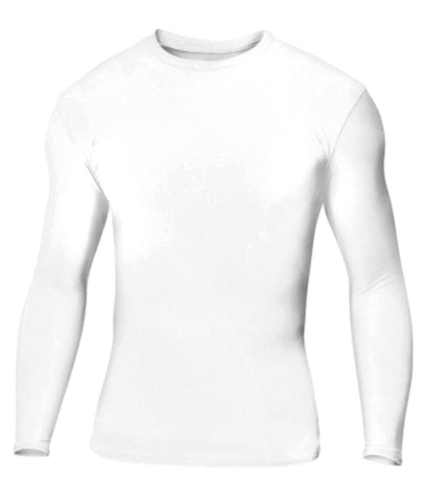 Lycot White Full Sleeve Swimwear/ Swimming Costume