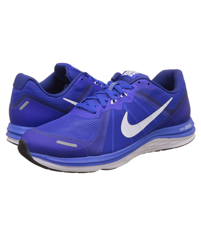 size 40 f47b6 6520e Nike Dual Fusion X 2 Blue Running Shoes - Buy Nike Dual Fusion X 2 Blue  Running Shoes Online at Best Prices in India on Snapdeal