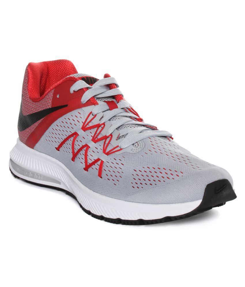 new product 02c9b b0916 Nike Zoom Winflo 3 Gray Running Shoes