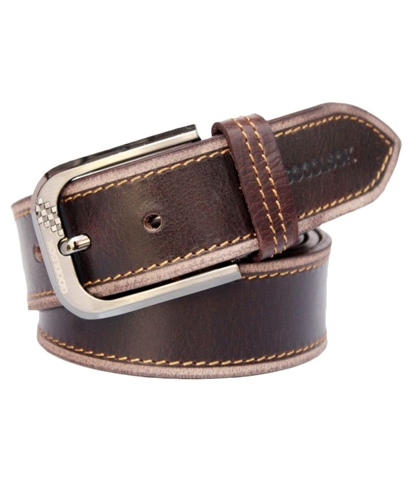 Bacchus Brown Leather Casual Belts