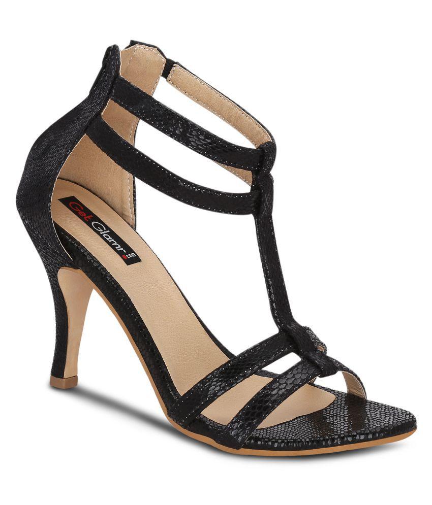 Get Glamr Black Stiletto Heels