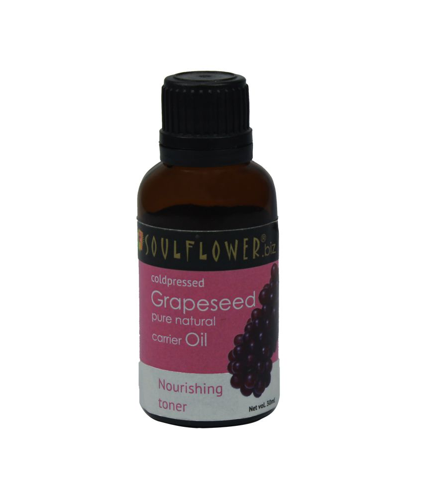 Soulflower Coldpressed Grapeseed Carrier Oil, 30ml