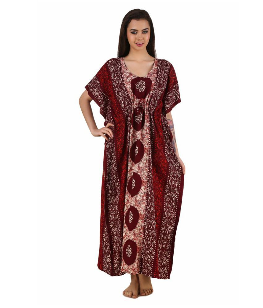 9375847f59 Buy Masha Cotton Nighty & Night Gowns - Multi Color Online at Best ...