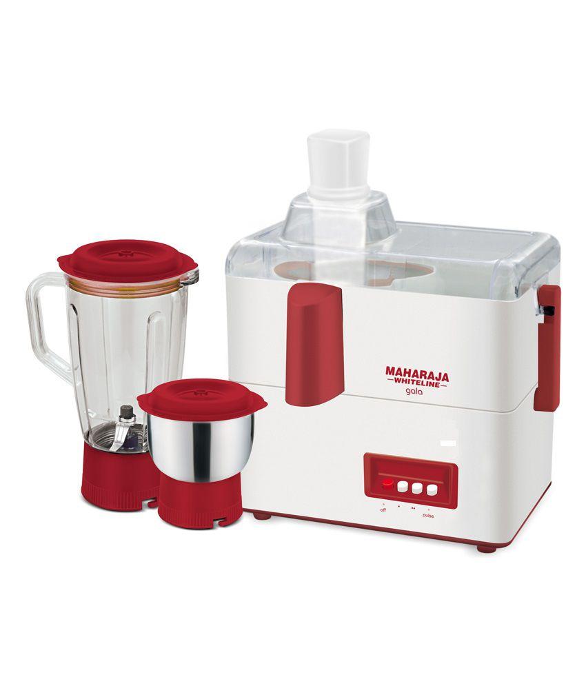 3392208241 Maharaja Whiteline Gala 450 Watt 2 Jar Juicer Mixer Grinder Price in ...