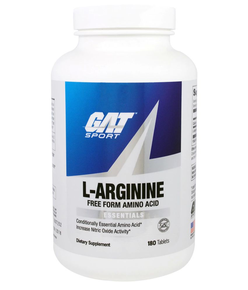 GAT L Arginine FREE FORM AMINO ACID (180 tablets) 180 no.s ...