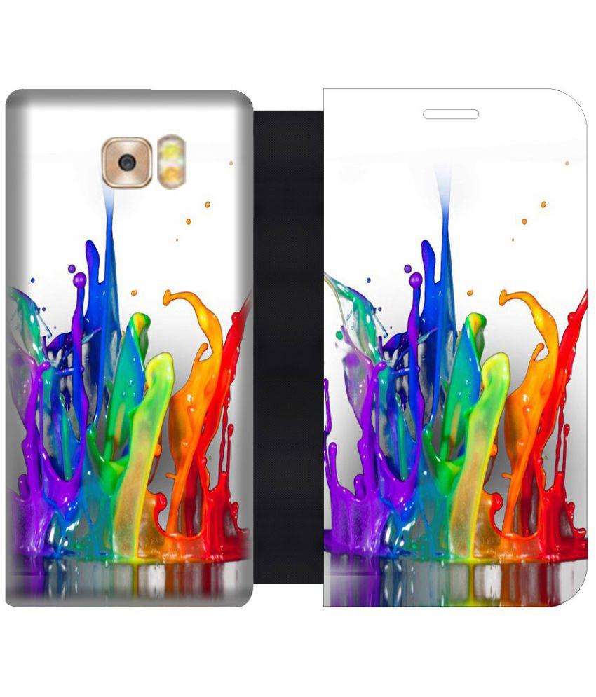 Samsung Galaxy C9 Pro Flip Cover by Skintice - Multi