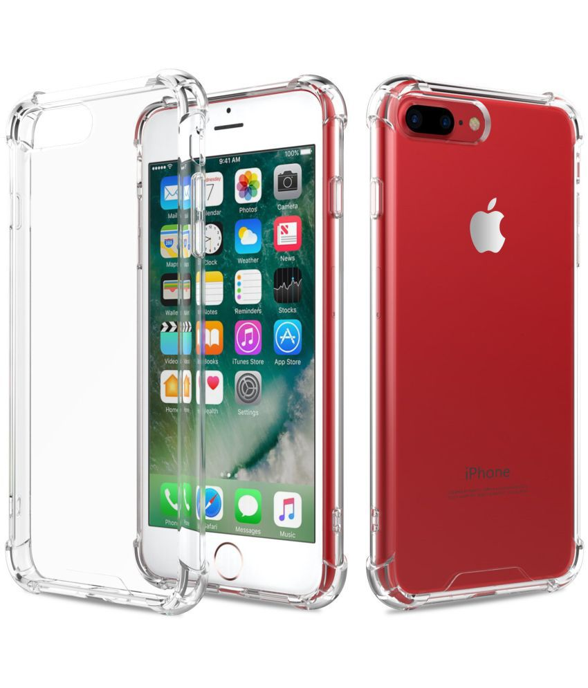 Apple Iphone 7 Plus Plain Cases Moko Red Plain Back Covers