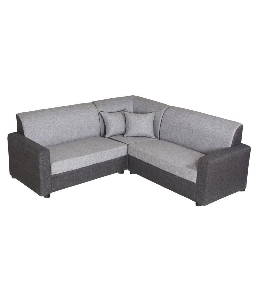 Gioteak Havana Black Grey L shaped sofa set 2+2+C - Buy ...