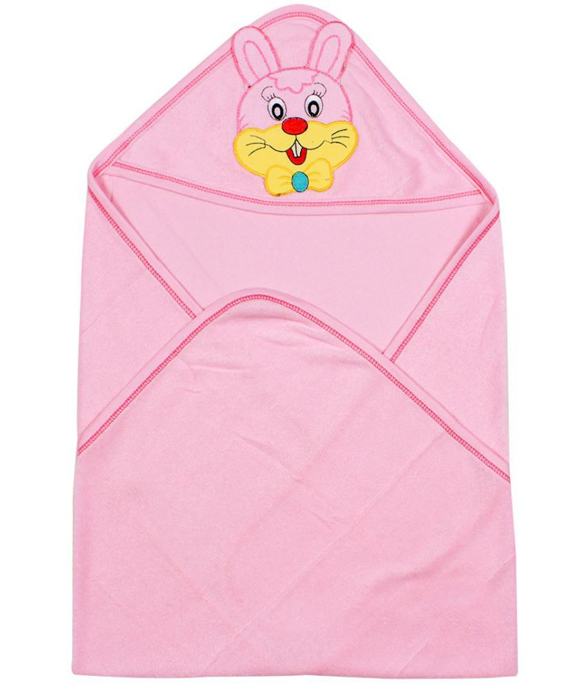 Ole Baby Pink Cotton Bath Towels Baby Blanket/Baby Swaddle/Baby Sleeping Bag