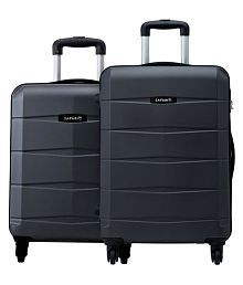Safari Re-Gloss Anti Scratch Black Set of 2 Small, Medium Trolley Bag Hard Luggage