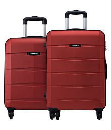 Safari Re-Gloss Anti Scratch Red Set of 2 Small, Medium Trolley Bag Hard Branded Luggage