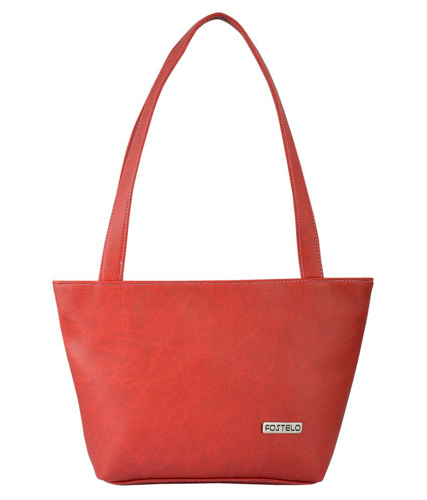 Fostelo Red P.U. Shoulder Bag